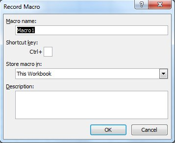 Create An Excel Macro