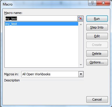 View Macros In Excel 2007